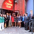 Players outside the Cavern Club